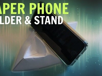 How To Make a PAPER PHONE HOLDER.STAND!