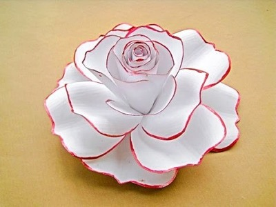 How to make a rose flower with paper
