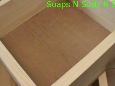 How to make a soap mold, Making a soap mold, Making a slab mold