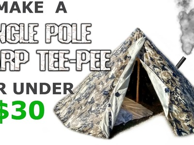 How to make a Tarp Tipi. Teepee Tent Shelter