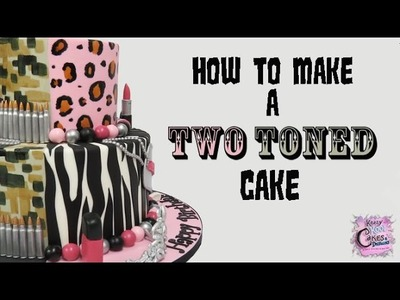 How To Make A Two Toned Cake - Split Cake: EASY HOW TO