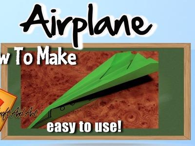 How to make airplane . Origami