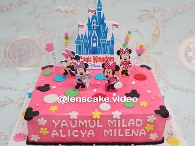 How to Make Birthday Cake Minnie Mouse - Cara Membuat Kue Ulang Tahun Minnie Mouse