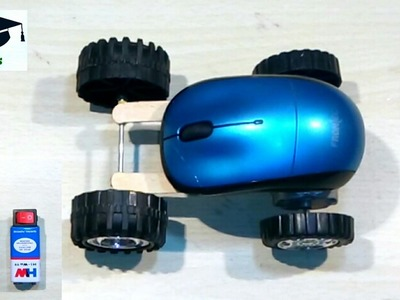 How to make car with MOUSE - crazy car at home. easy and very simple