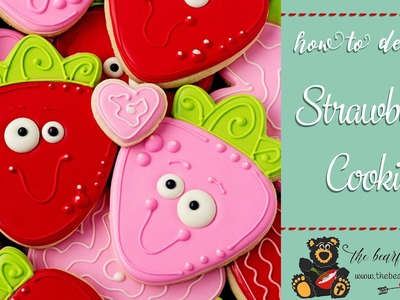How to Make Decorated Strawberry Cookies