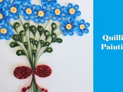 How to make Floral Bouquet Painting | Quilling | DIY