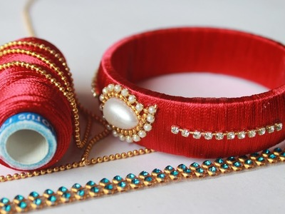 How to Make Flower kada Model Jabardast Roja Model Bangles | Sirithreadworks