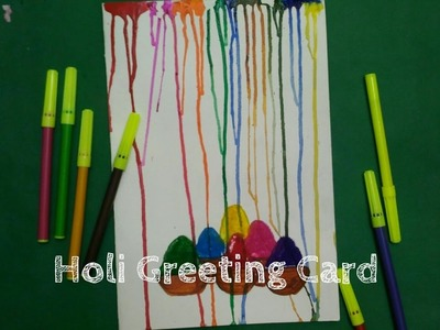 How to make greeting card for Holi. ||Art n you-16||