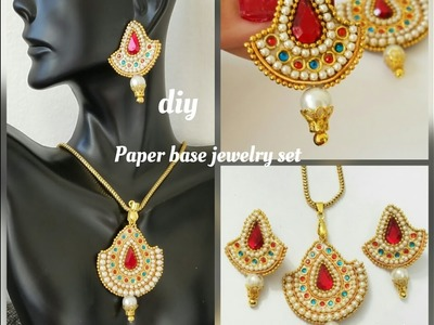 How To Make Paper Jewelry Set|Paper Earrings|Made out of Paper