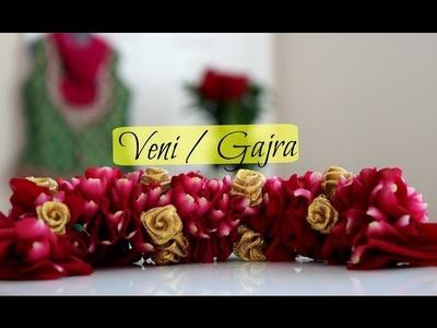 How to make: PoolaJada Veni.Poojadai Gajra. Traditional South Indian Bridal Hair Style at home
