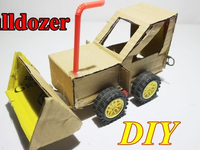 How To Make Powered Bulldozer DIY Very Easy - Electric Car For Toy