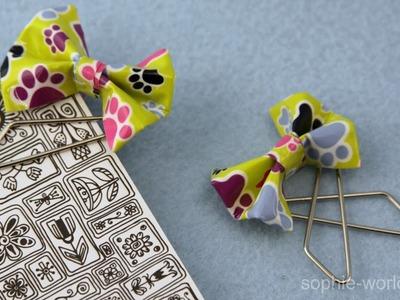 How to Make Professor Umbridge's Duct Tape Bow Bookmark | Sophie's World