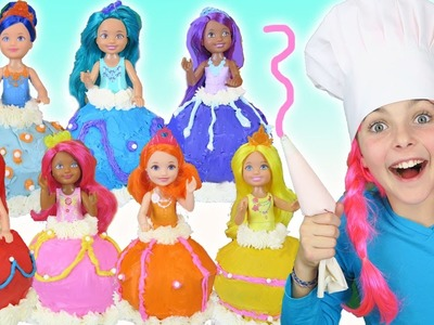 ???? How To Make RAINBOW Barbie Dreamtopia Dress Cupcakes | Giant Princess Cupcake | Chef Kids Cooking