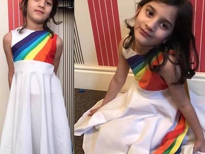 How to Make Rainbow Dash Dress. DIY. My Little Pony. XO