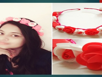 How to Make ROSE TIARA. HEADBAND for Parties | Party Accessories |Super easy !!