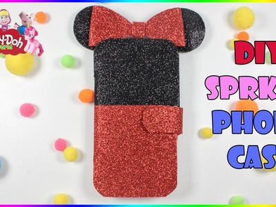 How To Make Sparkly Disney Minnie Mouse Phone Case | DIY phone case