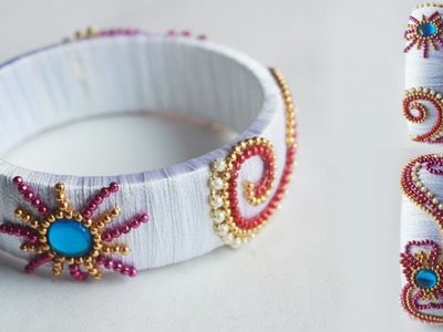 How to Make Sun Flower Model  Thread Bangles Easy Totorials | zooltv