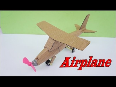 How to Make Toy Airplane DIY Very Easy - Easy Way to Build Electric Airplane At Home