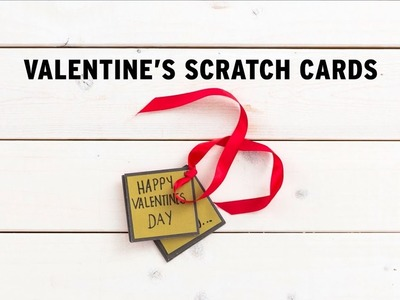 How To: Make Upcycled DIY Scratch-Off Cards for your Valentine - The Body Shop