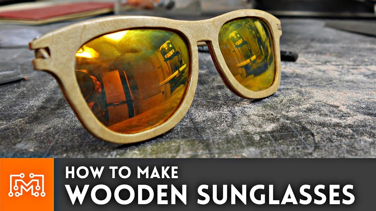 How to make wooden sunglasses. Woodworking Project