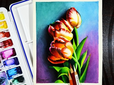 How to paint flowers with watercolor -- Some basic tips.