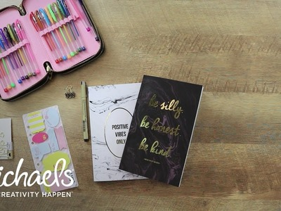How to Personalize a Grid Journal | Michaels