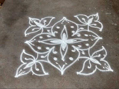 How to put rangoli