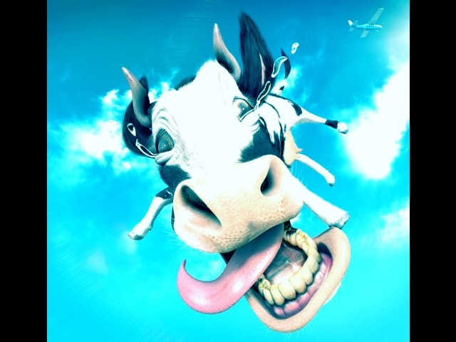 How to Turn Words COW into a Cartoon - Anyone can do this - Awosame trick for 3D Arting