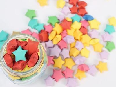 Hướng dẫn gấp ngôi sao may mắn || How to make lucky paper stars