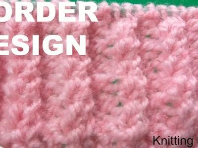 Knitting border design
