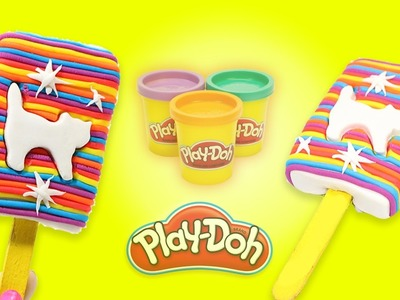 Learn Colors Play Doh Ice Cream Popsicle - DIY How To Make Play Doh Ice Cream Rainbow Colors