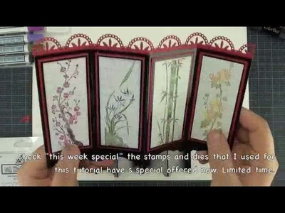 Local King Rubber Stamp Tutorial #61 how to create a Asian dividers