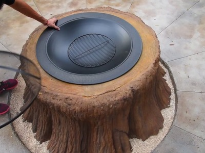 NEW! Decorative Concrete GFRC firepit Video DIY HGTV Style mini-series How to make it look easy