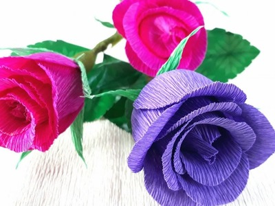 Origami Tutorial -  How to make paper shrug fower Roses