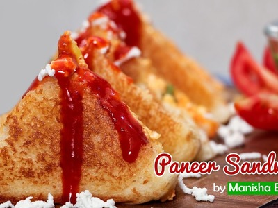 Paneer Sandwich  - How To Make Cottage Cheese Recipe - Lunch Box Quick Snacks