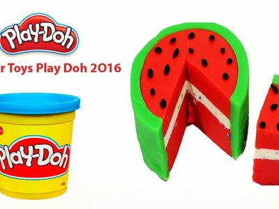 Play Doh Cake Rainbow - how to make play doh rainbow cake - Super Toys Play Doh 2O16