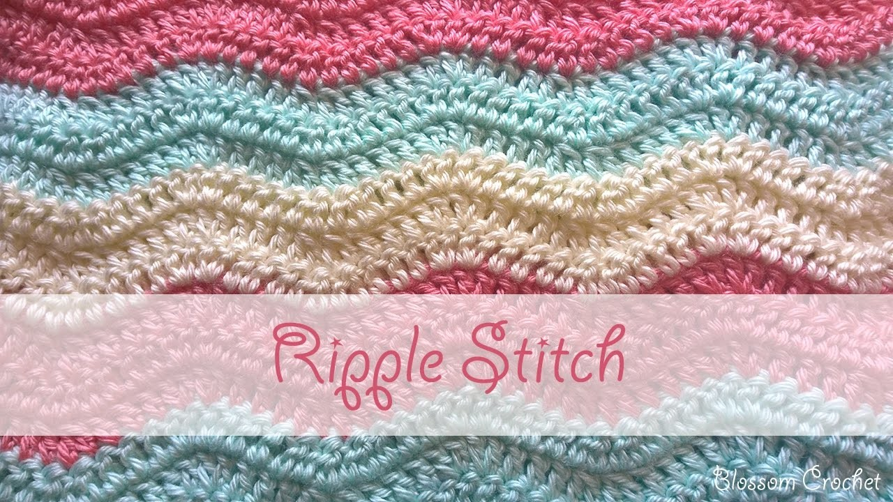 Easy Crochet Ripple Afghan Tutorial : Ripple Stitch Crochet Tutorial, My Crafts and DIY Projects