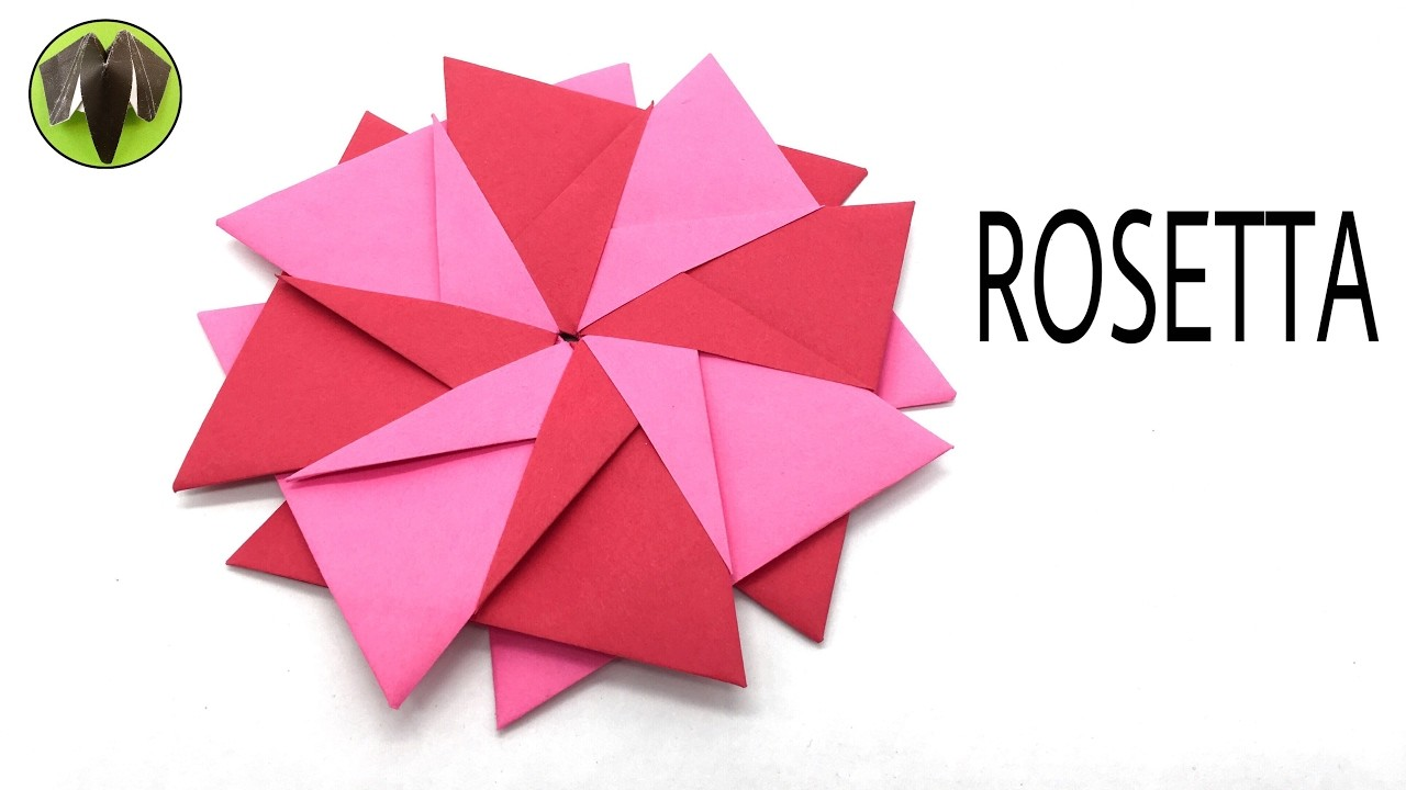 ROSETTA by Cristina Bonnet - Modular Origami Tutorial by Paper Folds