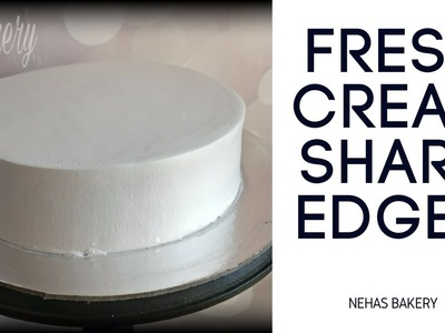 SHARP EDGES ON CREAM CAKE - HOW TO VIDEO