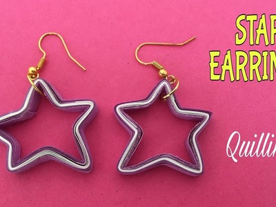 STAR Quilling Earring - Design 8 - DIY Tutorial by Paper Folds