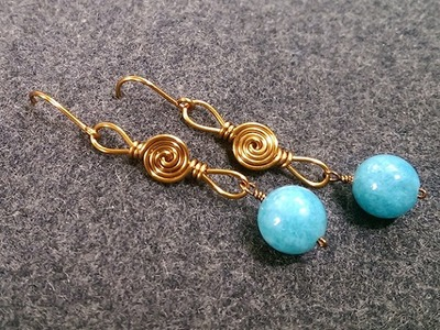 Wire earring - How to make wire jewelery 210