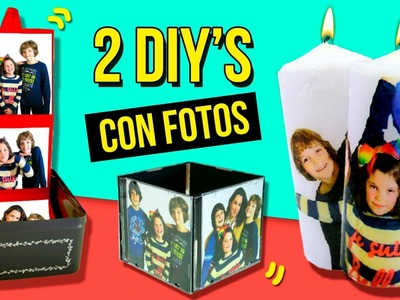 2 LAST MINUTE gift with PHOTOS * 2 DIY para REGALAR con FOTOS ✅  Top Tips & Tricks in 1 minute