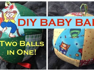 DIY Baby Ball Sew (Peekabo Picture!)