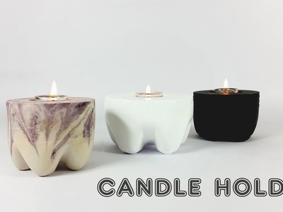 DIY Candle Holder | How To Make A Candle Holder  Out Of Plaster Of Paris