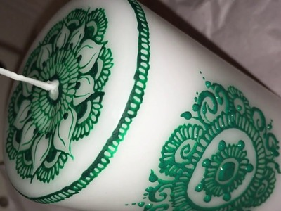 "DIY Henna Candle Tutorial || Aysha""s Mehndi"