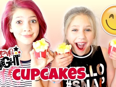DIY How to make Movie Night Cupcakes! Annie and Hope try Foodstirs Baking Kit