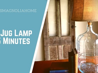 DIY: Jug Lamp in 5 Minutes