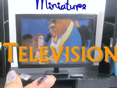 DIY Polymer Clay Television DVD Player Dollhouse Miniature