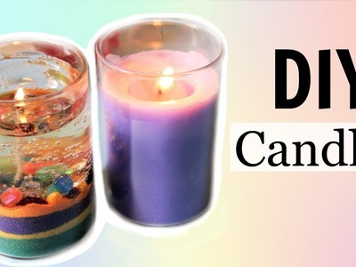 DIY Water. Gel Candle and Aroma Candle without Bee or Soy Wax!! - Easy and Cheap!