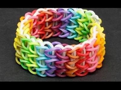 How To Create a Rubber Bracelet - Easy Loom Bands - Lesson 001